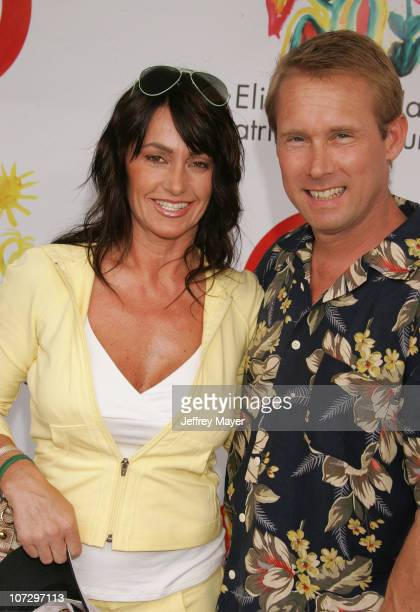 """Nadia Comaneci and Bart Conner during Elizabeth Glaser Pediatric AIDS Foundation 2005 """"A Time For Heroes"""" Celebrity Carnival - Arrivals in Los..."""