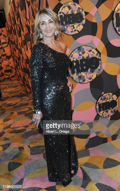 Nadia Comaneci arrives for the HBO's Official Golden Globes After Party held at Circa 55 Restaurant on January 5 2020 in Los Angeles California