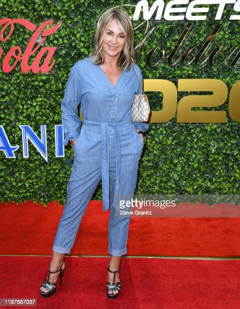 Nadia Comăneci arrives at the 7th Annual Gold Meets Golden at Virginia Robinson Gardens and Estate on January 04 2020 in Los Angeles California