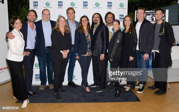 Nadia Conners Walton Goggins Thomas Linzey Mathew Schmid Leila Conners George DiCaprio Francesco Lupica Eric Avery and Josh Klinghoffer attend Tree...