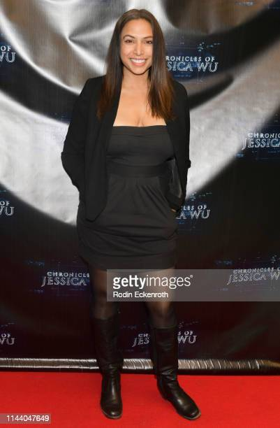 Nadia Dawn attends the Chronicles of Jessica Wu Season 2 premiere at SAGAFTRA Foundation Screening Room on April 20 2019 in Los Angeles California