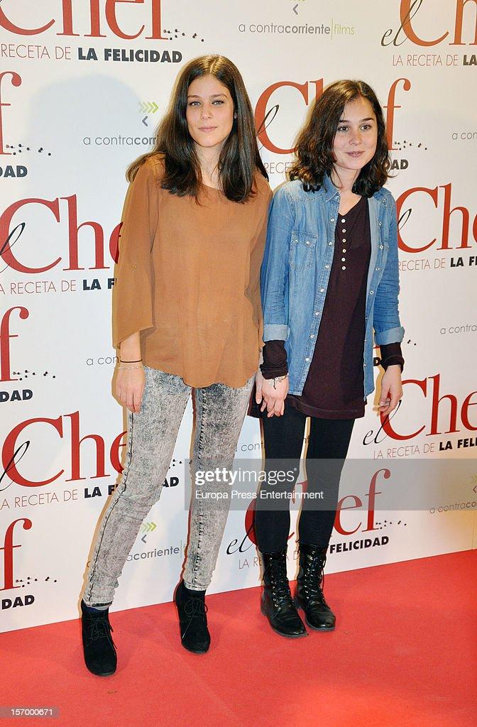 Nadia de Santiago (R) attends 'El Chef, La Receta de la Felicidad' premiere on November 26, 2012 in Madrid, Spain.