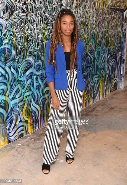 Nadia Eke attends the X2 Performance SuperBowl LIV Breakfast at Museum of Graffiti on January 31 2020 in Miami Florida