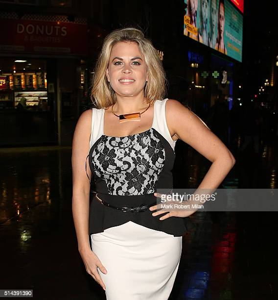 Nadia Essex attending Jake Quickenden's EP launch at Jewel bar on March 8 2016 in London England