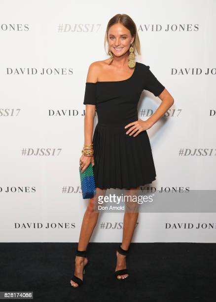 Nadia Fairfax arrives ahead of the David Jones Spring Summer 2017 Collections Launch at David Jones Elizabeth Street Store on August 9 2017 in Sydney...