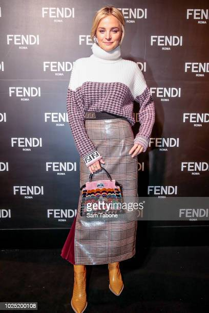 Nadia Fairfax attends the FENDI Melbourne Flagship Store Opening on August 30 2018 in Melbourne Australia