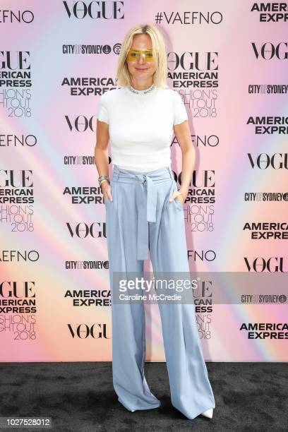 Nadia Fairfax during Vogue American Express Fashion's Night Out on September 6 2018 in Sydney Australia