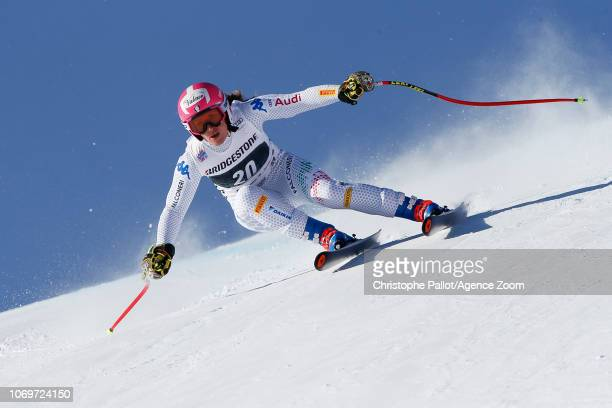 Nadia Fanchini of Italy competes during the Audi FIS Alpine Ski World Cup Women's Super G on December 8 2018 in St Moritz Switzerland