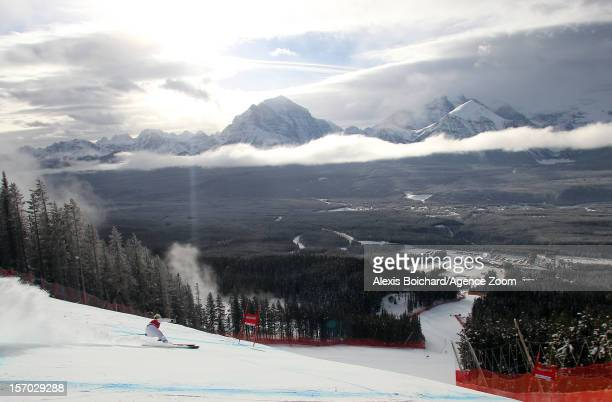 Nadia Fanchini of Italy competes during the Audi FIS Alpine Ski World Cup Women's Downhill training on November 27, 2012 in Lake Louise, Canada.