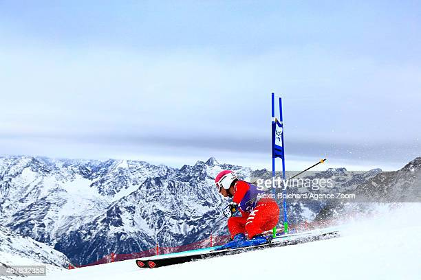 Nadia Fanchini of Italy competes during the Audi FIS Alpine Ski World Cup Women's Giant Slalom on October 25 2014 in Soelden Austria