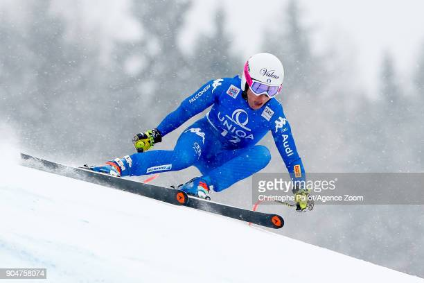 Nadia Fanchini of Italy competes during the Audi FIS Alpine Ski World Cup Women's Downhill on January 14 2018 in Bad Kleinkirchheim Austria