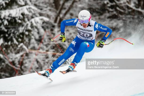 Nadia Fanchini of Italy competes during the Audi FIS Alpine Ski World Cup Women's Downhill on February 3 2018 in GarmischPartenkirchen Germany