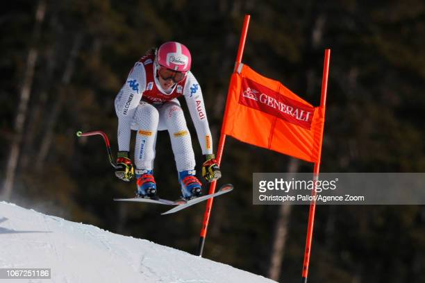 Nadia Fanchini of Italy in action during the Audi FIS Alpine Ski World Cup Women's Downhill on December 1 2018 in Lake Louise Canada