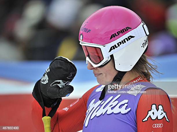Nadia Fanchini of Italy in the finish area during the Audi FIS Alpine Ski World Cup Women's Giant Slalom on October 25 2014 in Soelden Austria