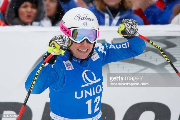 Nadia Fanchini of Italy takes 3rd place during the Audi FIS Alpine Ski World Cup Women's Downhill on January 14 2018 in Bad Kleinkirchheim Austria