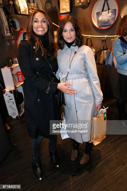 Nadia Fares and Melanie Bernier attend Reem Kherici signs her book 'Diva' at the Barbara Rihl Boutique on November 8 2017 in Paris France
