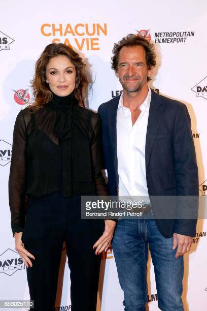 Nadia Fares and Stephane de Groodt attend the 'Chacun sa vie' Paris Premiere at Cinema UGC Normandie on March 13 2017 in Paris France