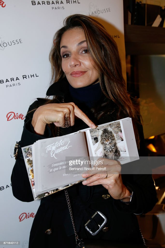Nadia Fares attends Reem Kherici signs her book 'Diva' at the Barbara Rihl Boutique on November 8, 2017 in Paris, France.
