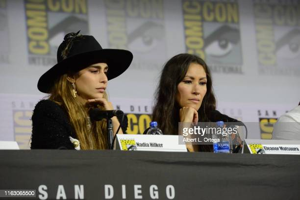 Nadia Hilker and Eleanor Matsuura speak at The Walking Dead Panel during 2019 ComicCon International at San Diego Convention Center on July 19 2019...