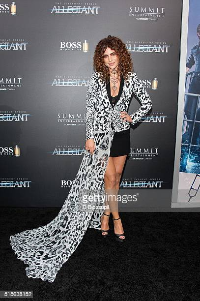 Nadia Hilker attends the Allegiant New York premiere at AMC Lincoln Square Theater on March 14 2016 in New York City