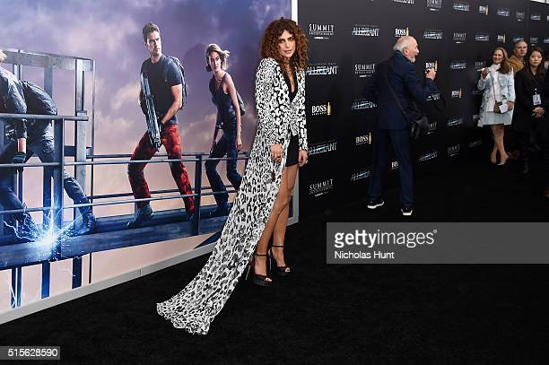 Nadia Hilker attends the New York premiere of Allegiant at the AMC Lincoln Square Theater on March 14 2016 in New York City