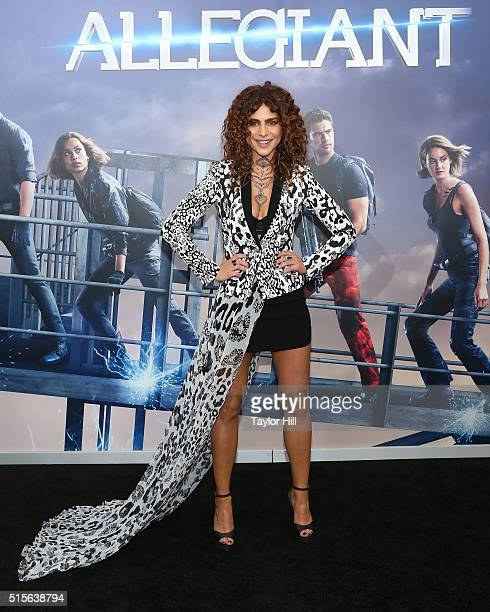 Nadia Hilker attends the New York premiere of 'Allegiant' at the AMC Lincoln Square Theater on March 14 2016 in New York City