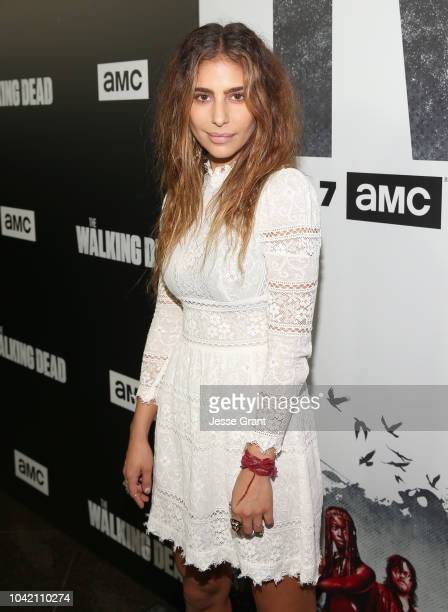 Nadia Hilker attends The Walking Dead Premiere and After Party on September 27 2018 in Los Angeles California