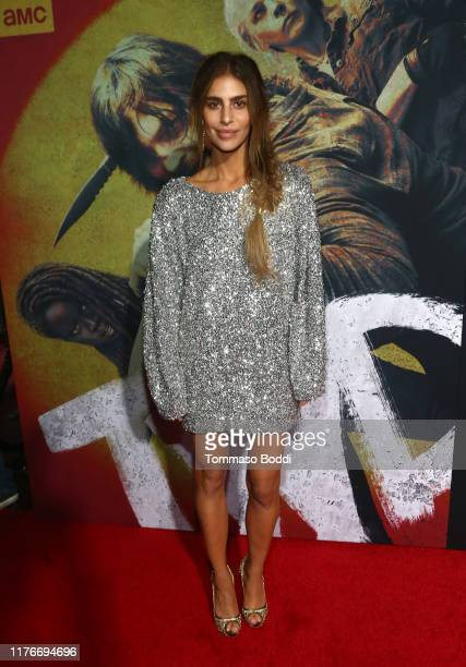 Nadia Hilker attends The Walking Dead Premiere and Party on September 23 2019 in West Hollywood California