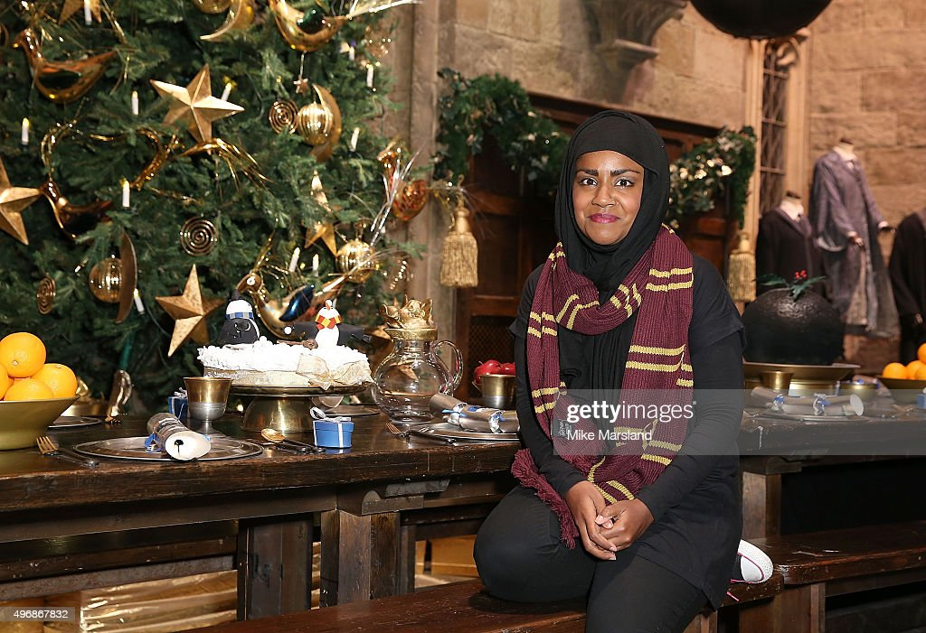Nadia Hussain attend the Launch Of Hogwarts In The Snow at Warner Bros. Studio Tour London on November 12, 2015 in Watford, England.