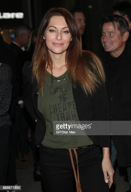Nadia Lanfrancon is seen on December 8 2017 in Los Angeles CA