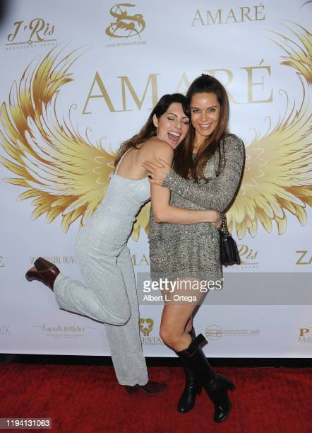 Nadia Lanfranconi and Anna Florence attend the Amare Magazine's Winter Transformation Issue Launch Party held at Sofitel Los Angeles At Beverly Hills...