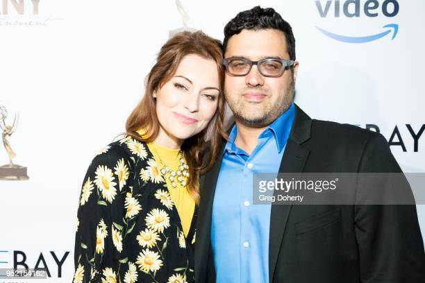 Nadia LanFranconi and Gregori J Martin attend The Bay's PreEmmy Red Carpet Celebration at 33 Taps Hollywood on April 26 2018 in Los Angeles California