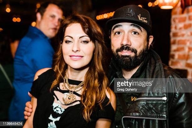 Nadia Lanfranconi and VonJako attend Hilary Barraford's Birthday Party held at Madame Siam on April 26, 2019 in Los Angeles, California.