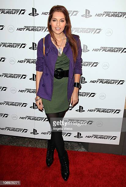 Nadia Lanfranconi arrives at EA's 'Need for Speed Hot Pursuit' launch party at Avalon on November 16 2010 in Hollywood California