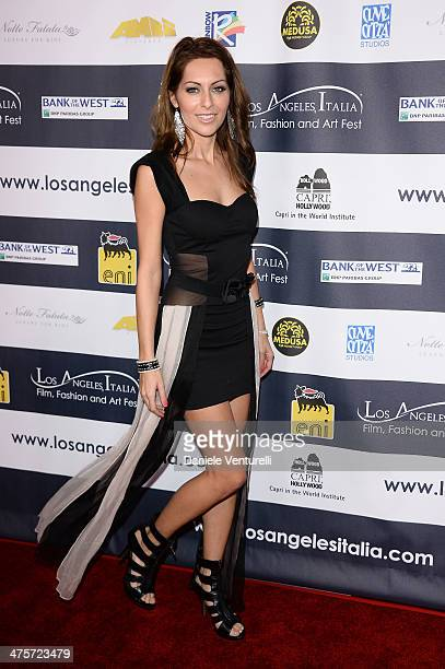 Nadia Lanfranconi attends the 9th Annual L.A. Italia Film, Fashion And Art's Festival Closing Night Awards Ceremony at TCL Chinese Theatre on...