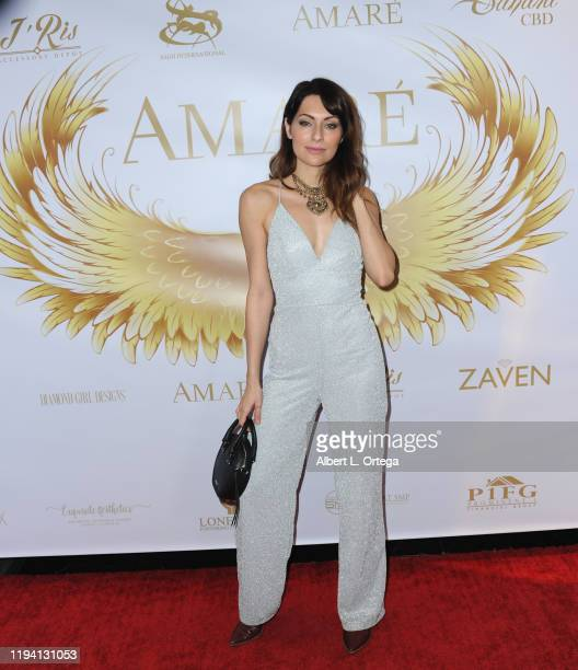 Nadia Lanfranconi attends the Amare Magazine's Winter Transformation Issue Launch Party held at Sofitel Los Angeles At Beverly Hills on January 16...