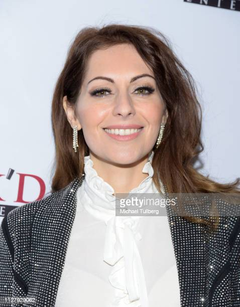 "Nadia Lanfranconi attends the premiere of Uncork'd Entertainment's ""St. Agatha"" at Ahrya Fine Arts Movie Theater on February 06, 2019 in Beverly..."