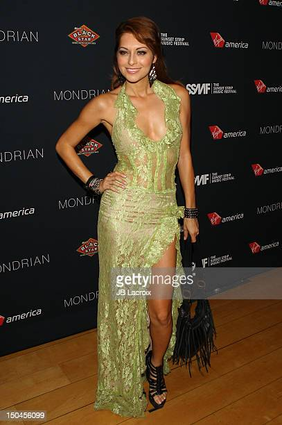 Nadia Lanfranconi attends the VIP Party Of The 5th Annual Sunset Strip Music Festival at SkyBar at the Mondrian Los Angeles on August 17, 2012 in...
