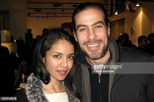 Nadia Loren and David Kaplan attend BoConcept and KolDesign Asian Holiday Party at BoConcept on December 16 2008 in New York City