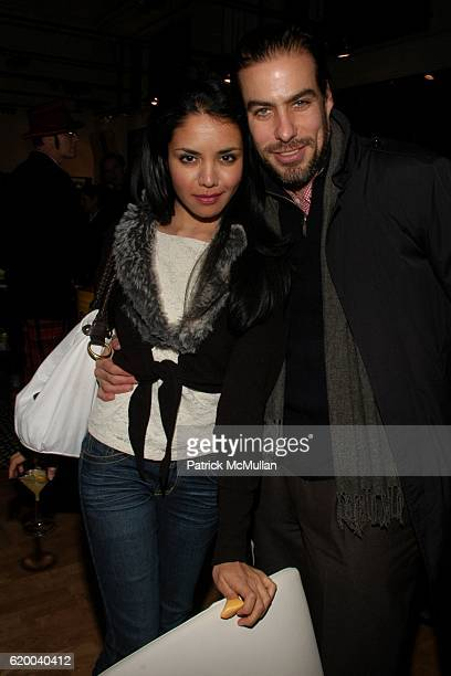 Nadia Loren and David Kaplan attend KolDesign and BoConcept's annual Holiday party at BoConcept on December 16 2008 in New York City