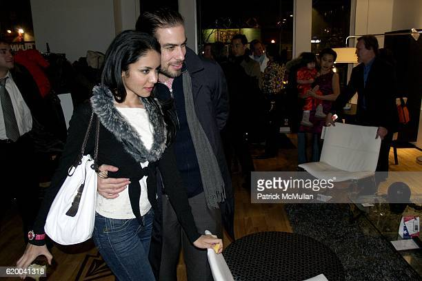 Nadia Loren and David Kaplan attend KolDesign and BoConcept's annual Holiday party at BoConcept Store on December 16 2008 in New York City