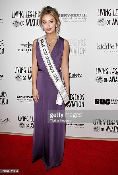 Nadia Mejia attends the 13th Annual Living Legends of Aviation Awards at The Beverly Hilton Hotel on January 22 2016 in Beverly Hills California