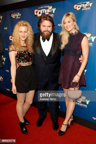 Nadia Migdal Antoine Monot Jr and Nina Ensmann attend the 21st Annual German Comedy Awards at Studio in Koeln Muehlheim on October 24 2017 in Cologne...