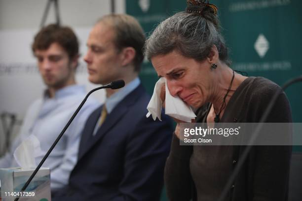 Nadia Milleron the mother of Samya Stumo who was killed in the crash of Ethiopian Airlines Flight 302 fights back tears while sitting next to her...