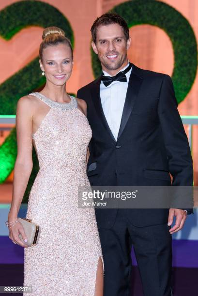 Nadia Murgasova and Mike Bryan attend the Wimbledon Champions Dinner at The Guildhall on July 15 2018 in London England
