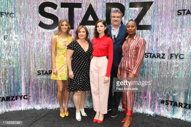 Nadia Parkes Emma Frost Charlotte Hope Matthew Graham and Stephanie LeviJohn attend the Starz FYC Day at The Atrium at Westfield Century City on June...