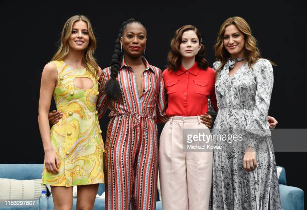Nadia Parkes Stephanie LeviJohn Charlotte Hope and Host Elizabeth Wagmeister attend Starz FYC 2019 — Where Creativity Culture and Conversations...