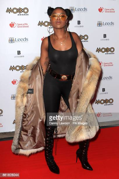 Nadia Rose attending the 22nd Mobo Awards held at Leeds First Direct Arena Clay Pit Lane Leeds Picture Date Wednesday November 29 2017 Photo credit...