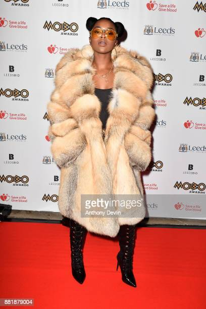 Nadia Rose attends the MOBO Awards at First Direct Arena Leeds on November 29 2017 in Leeds England