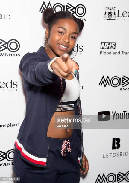 Nadia Rose attends the MOBO Awards nominations launch at YouTube Space on October 17 2017 in London England
